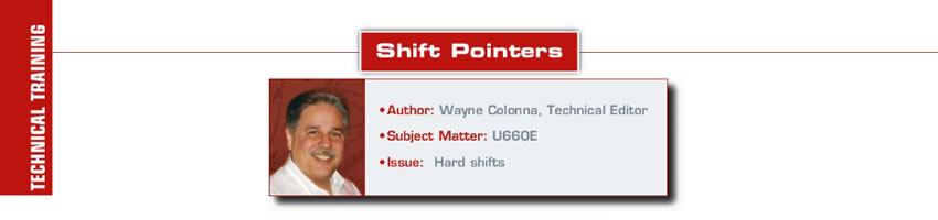 Squirrelly  Shift Pointers  Author: Wayne Colonna Subject Matter: U660E Issue: Hard shifts