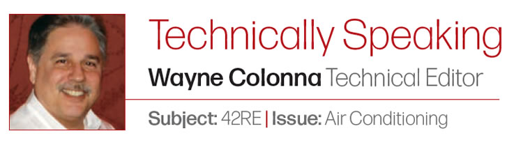 Technically Speaking Wayne Colonna Technical Editor Subject: 42RE | Issue: Air Conditioning