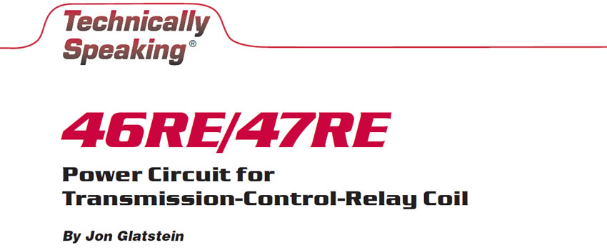 46re 47re Power Circuit For Transmission Control Relay Coil Transmission Digest