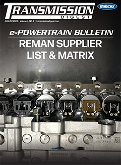 August 2020 ePowertrain Bulletin